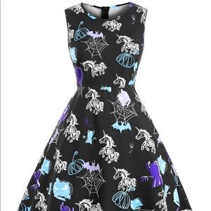 Awesome skelly unicorn dress from rosegal!